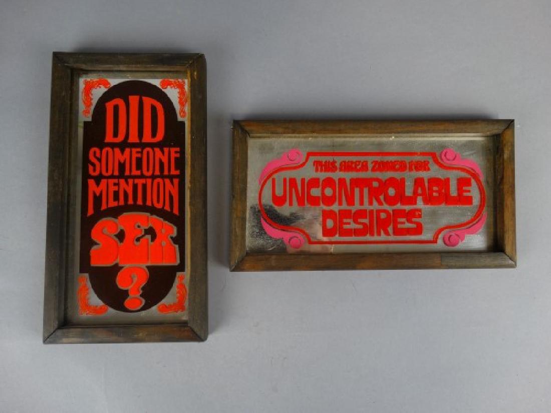Two Vintage Humorous Mirrors