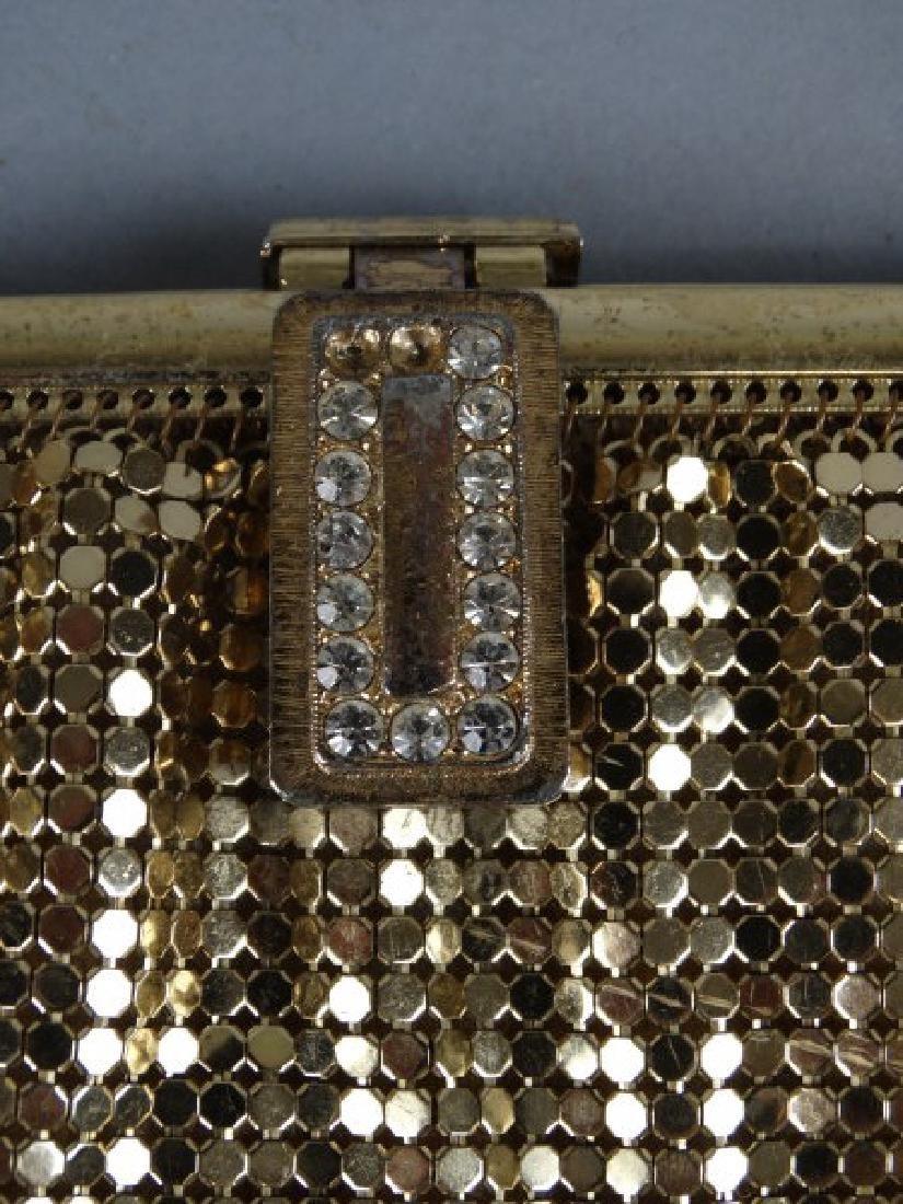 Whiting & Davis Vintage Gold Mesh Purse - 2