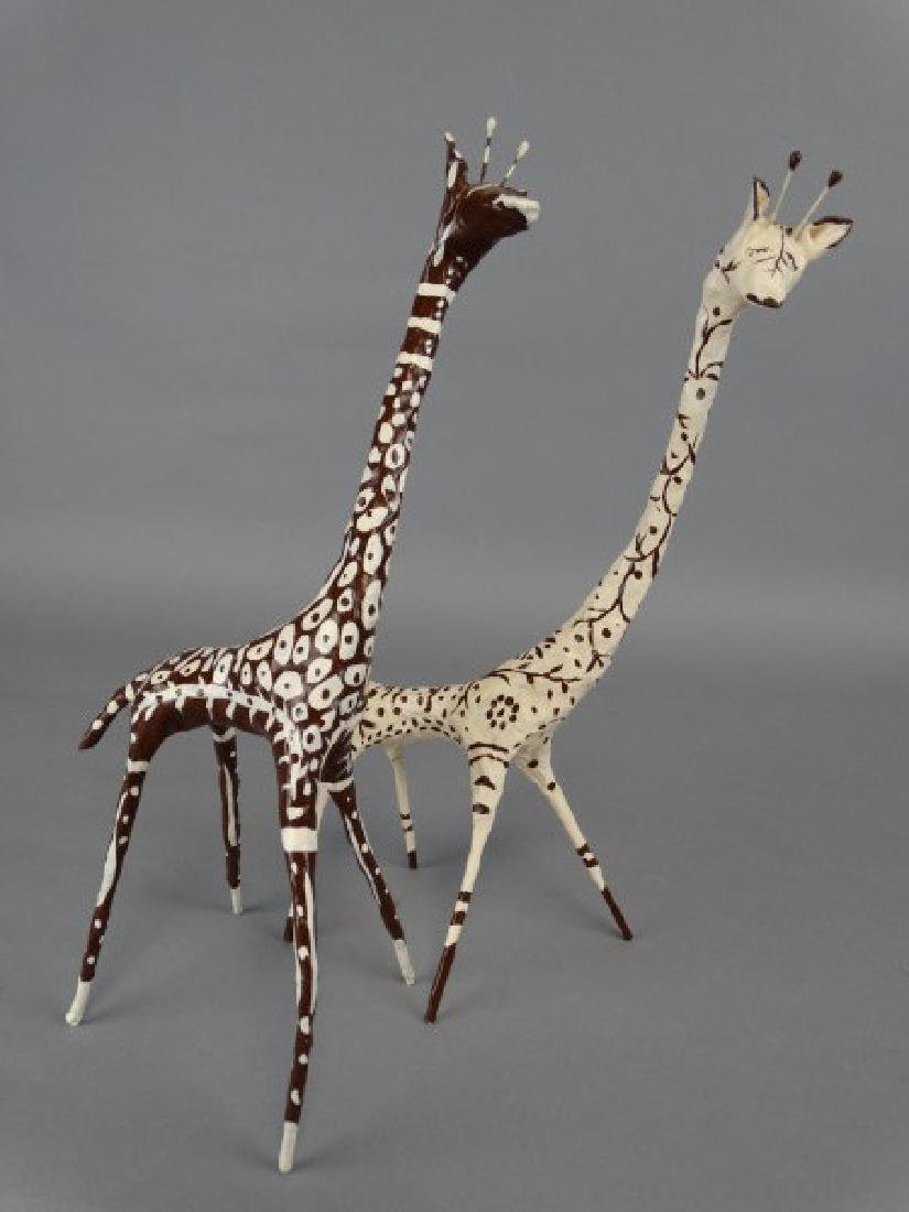 Lot of 2 Artist Giraffe Sculptures - 2