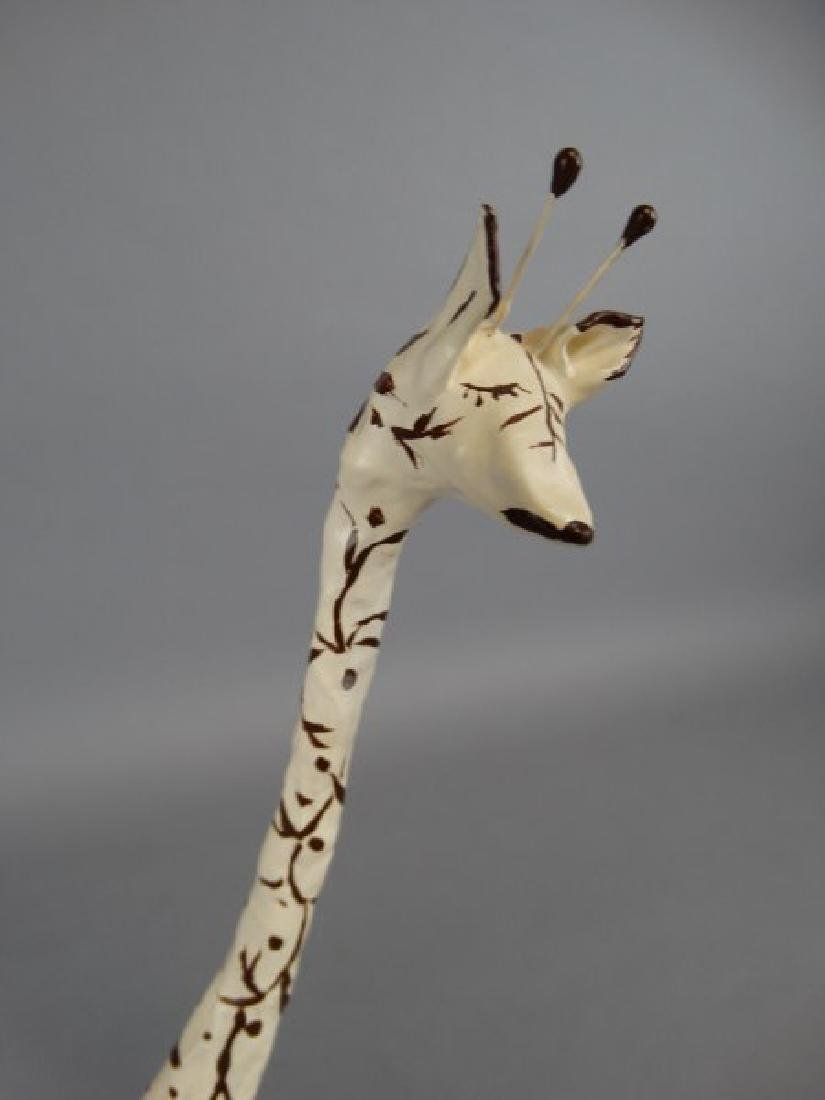 Lot of 2 Artist Giraffe Sculptures - 3