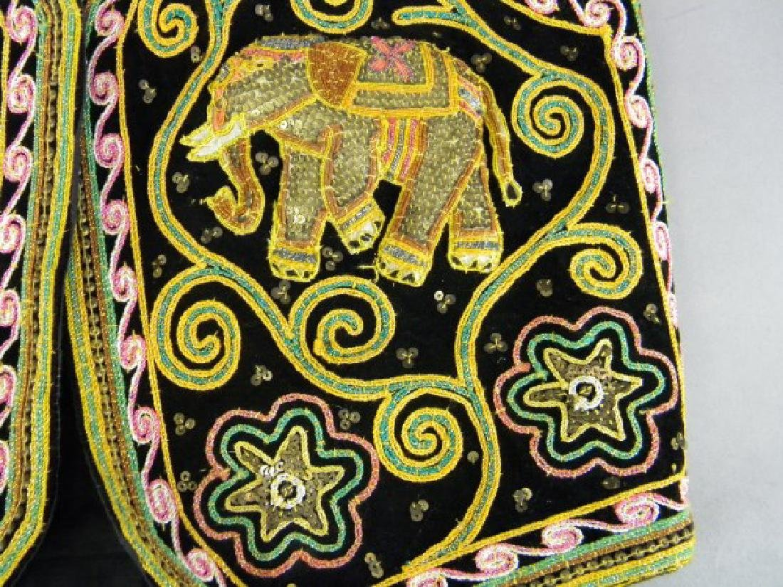 Middle Eastern Embroidered Vest - Elephants - 2