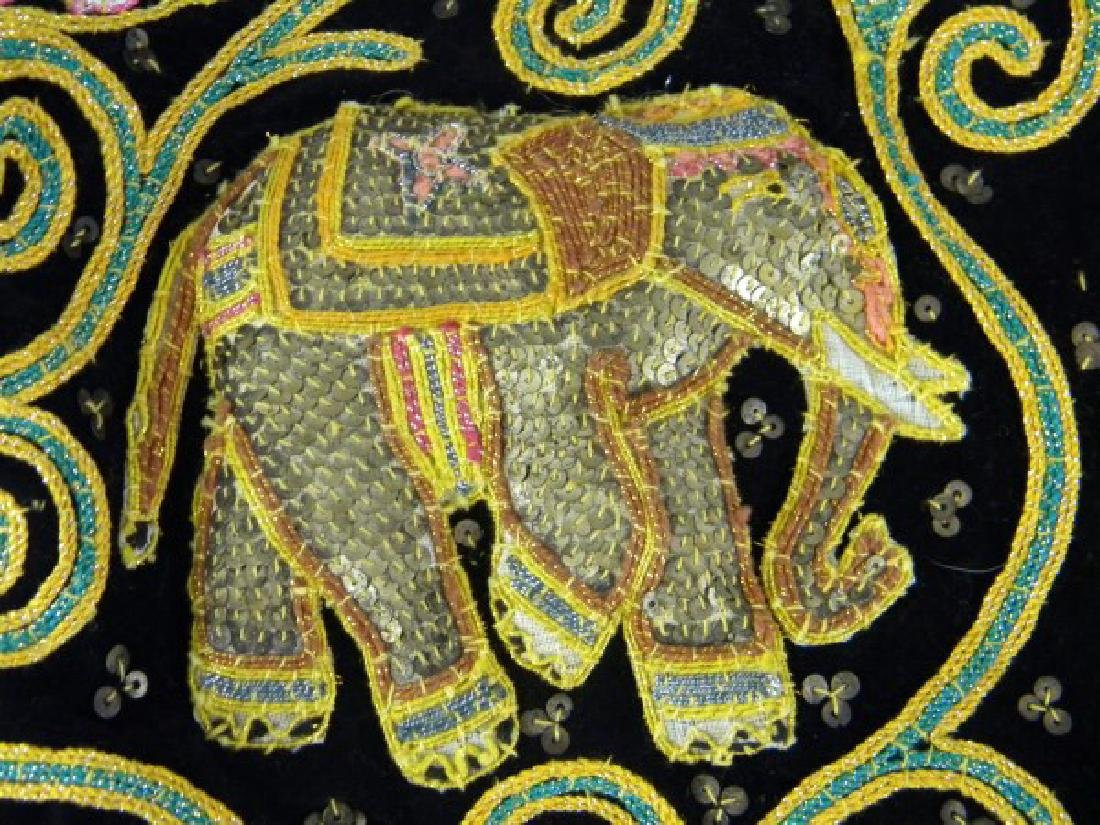 Middle Eastern Embroidered Vest - Elephants - 3