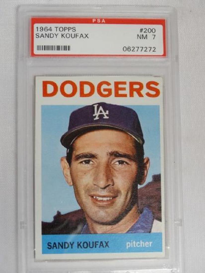 1964 Topps Sandy Koufax Baseball Card PSA 7