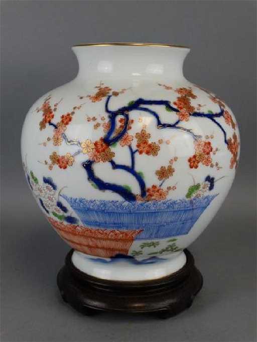 Japanese Fukagawa Vase