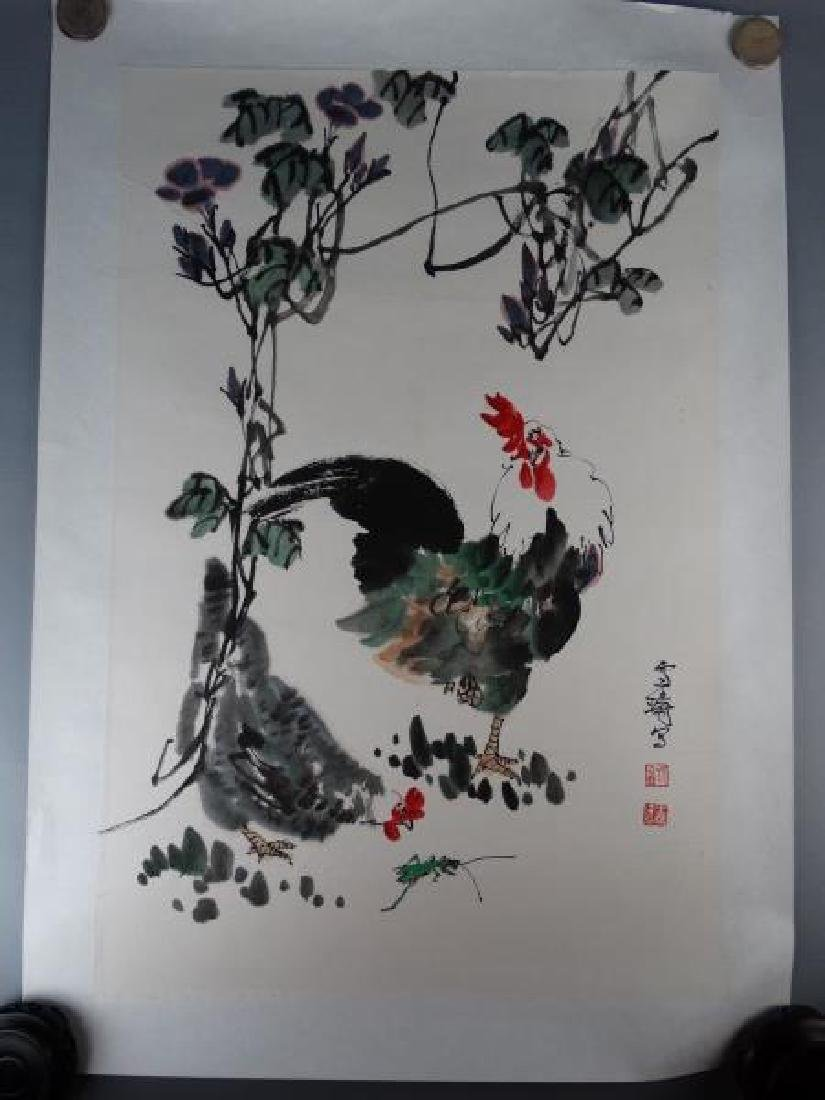 Chinese Watercolor Painting - Rooster