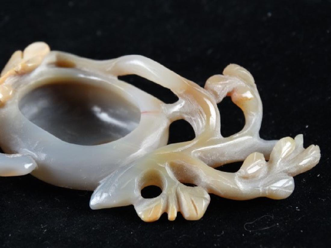 Highly Carved Agate Brush Washer - 5