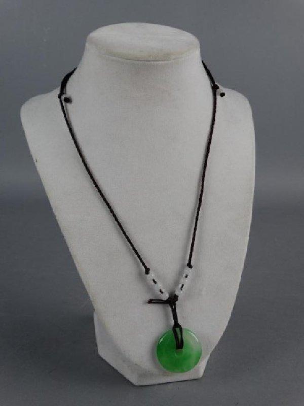Jade Bi on Necklace