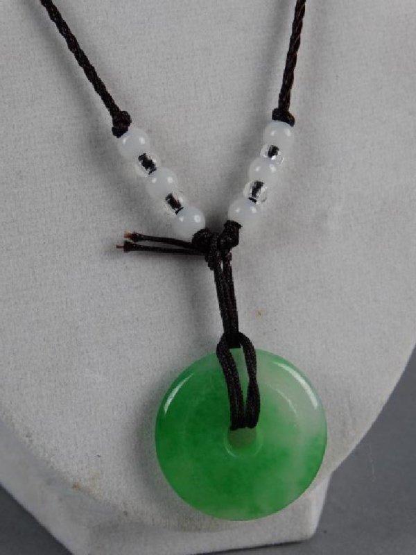Jade Bi on Necklace - 2