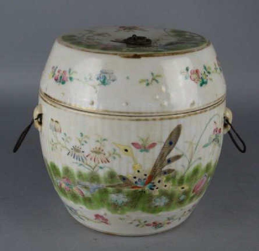 Antique Chinese Porcelain Lidded Pot