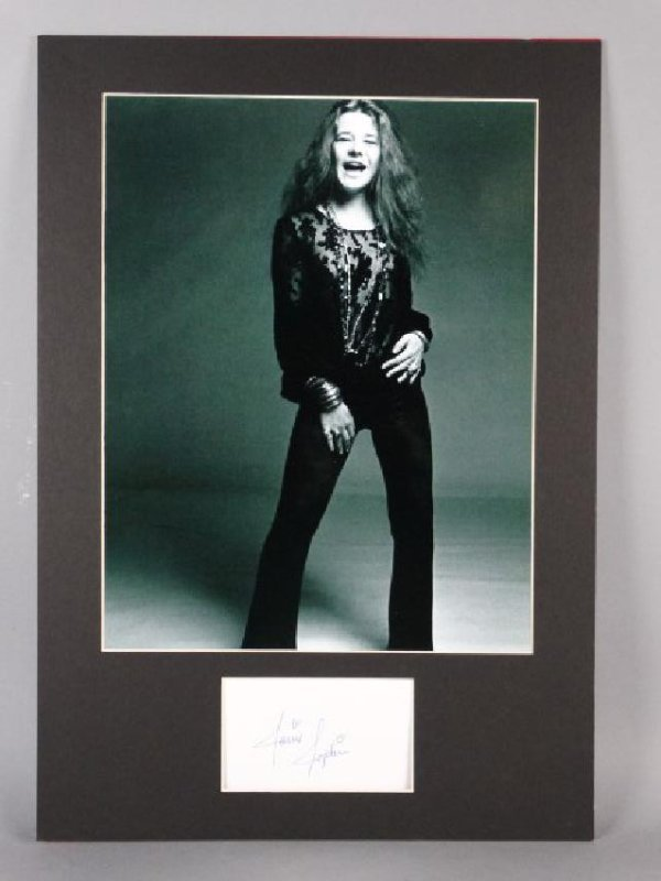 JANIS JOPLIN - Matted Autograph & Photo