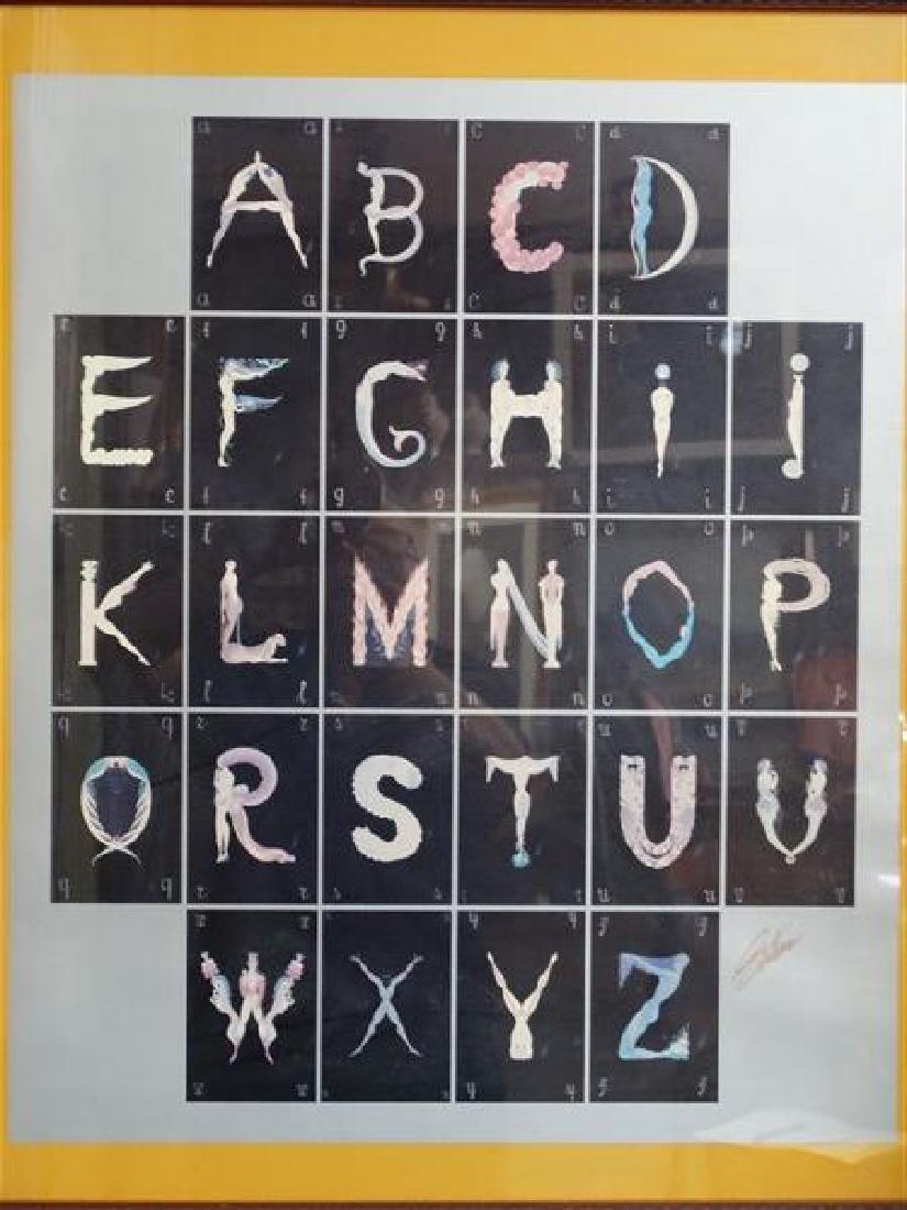 ERTE - Signed Alphabet Print