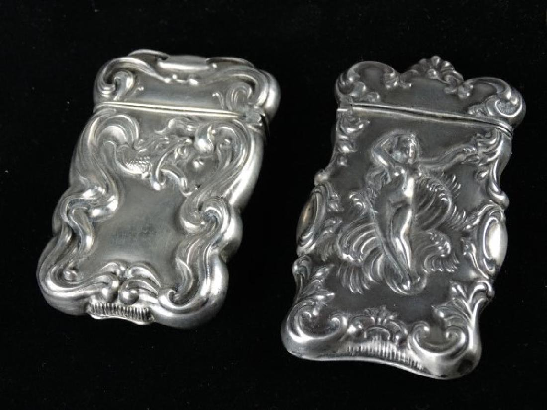 Lot of Two Sterling Silver Match Safes