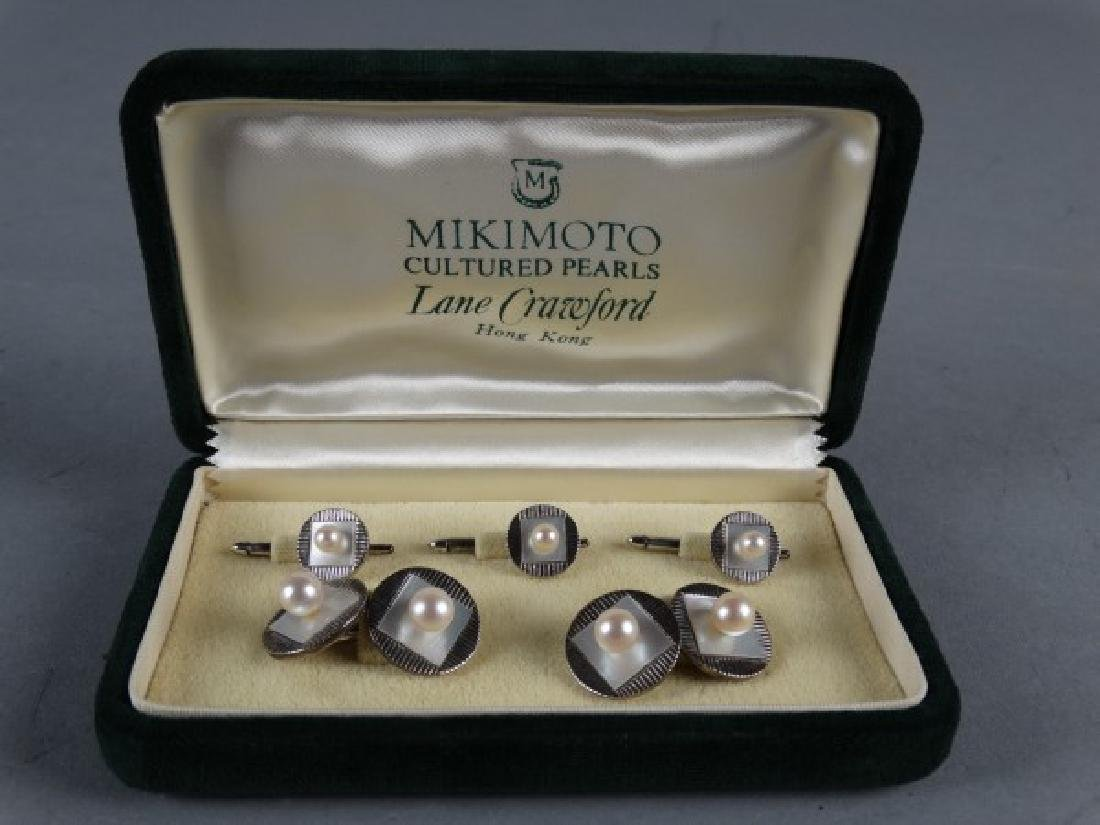 Mikimoto Pearl Cufflink & Button Covers