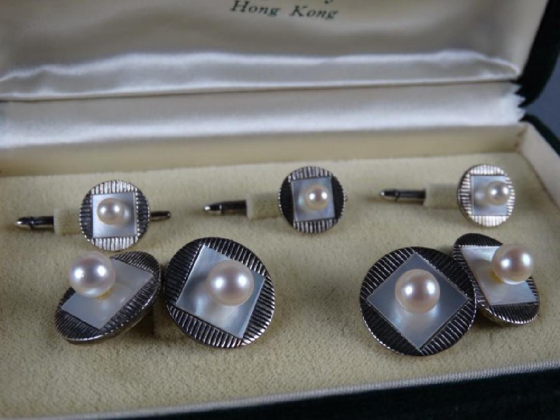 Mikimoto Pearl Cufflink & Button Covers - 2