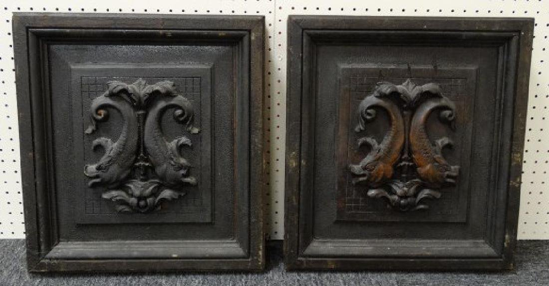 Pair of Carved Church Door Panels from New Orleans