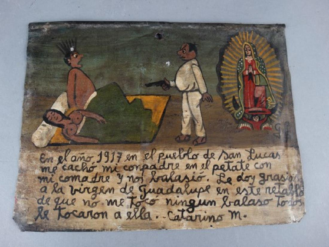Mexican Folk Art Retablo 1917