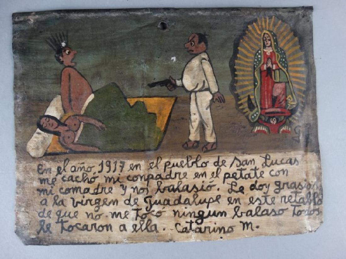 Mexican Folk Art Retablo 1917 - 2