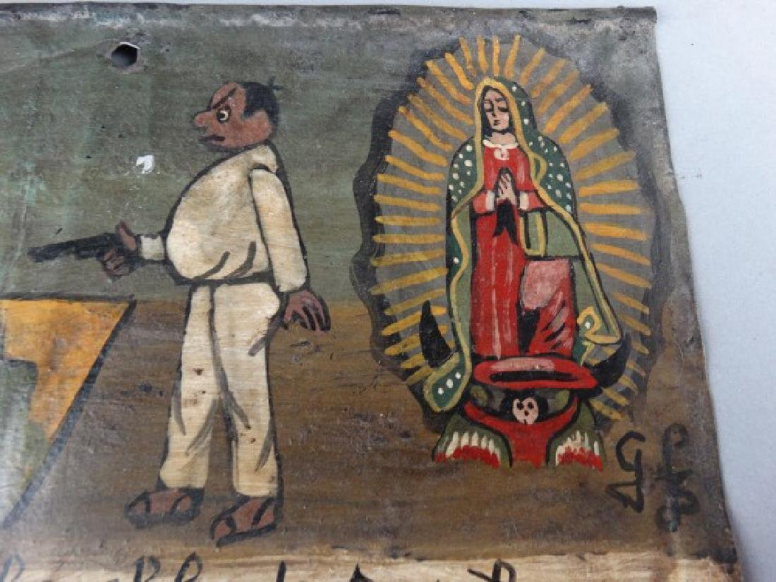 Mexican Folk Art Retablo 1917 - 3