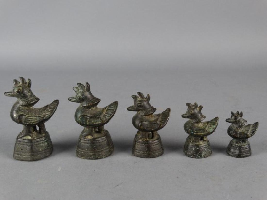 Antique Figural Bronze Opium Weights