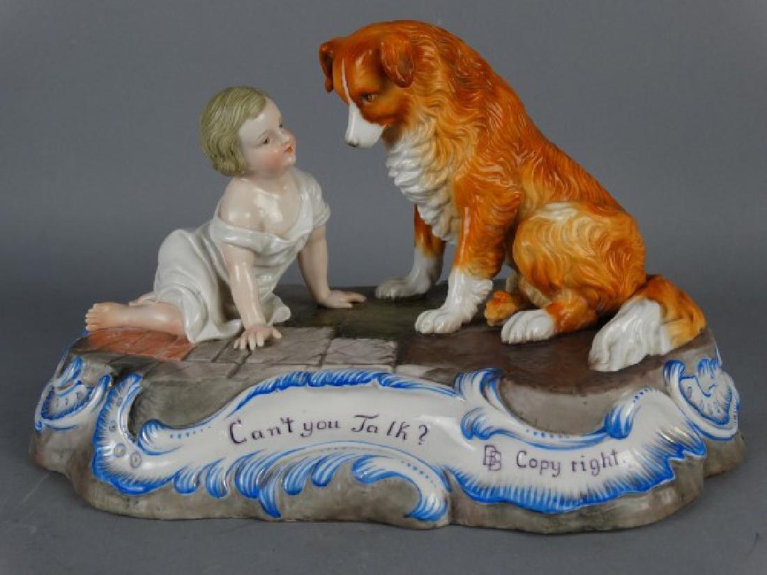 Sitzendorf Porcelain Figural Group