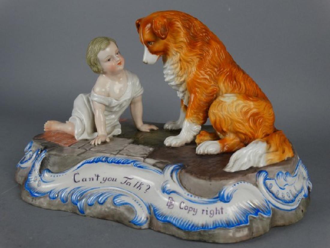 Sitzendorf Porcelain Figural Group - 2