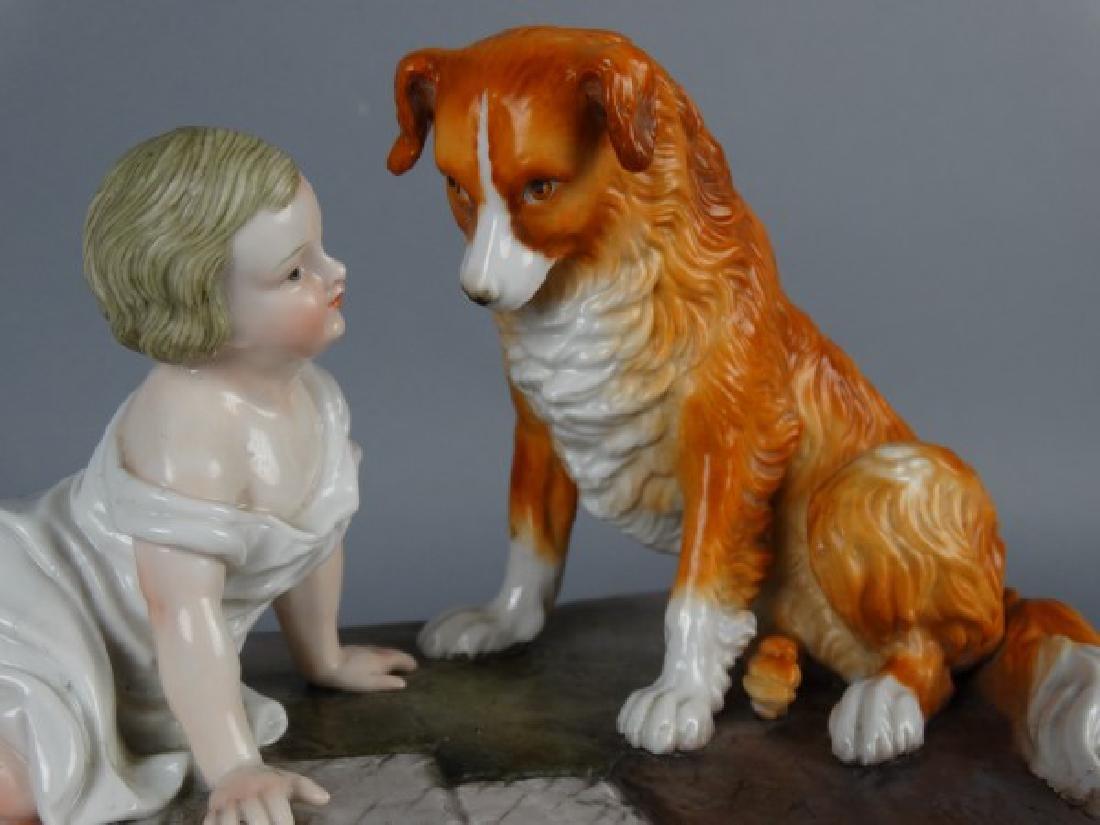 Sitzendorf Porcelain Figural Group - 4