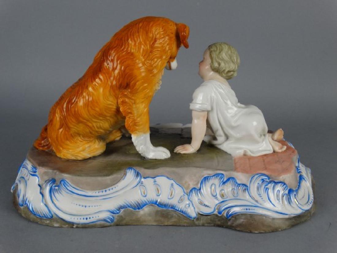 Sitzendorf Porcelain Figural Group - 6