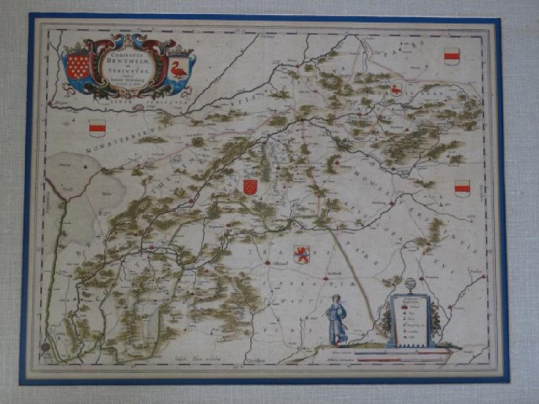 IOANNE WEDENBERG - Antique Map by Joan Blaeu