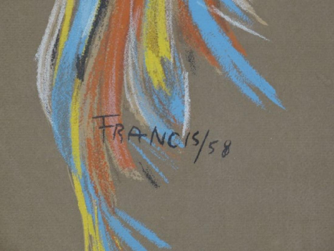 FRANCIS - Pastel Painting on Paper - Indian Girl - 4
