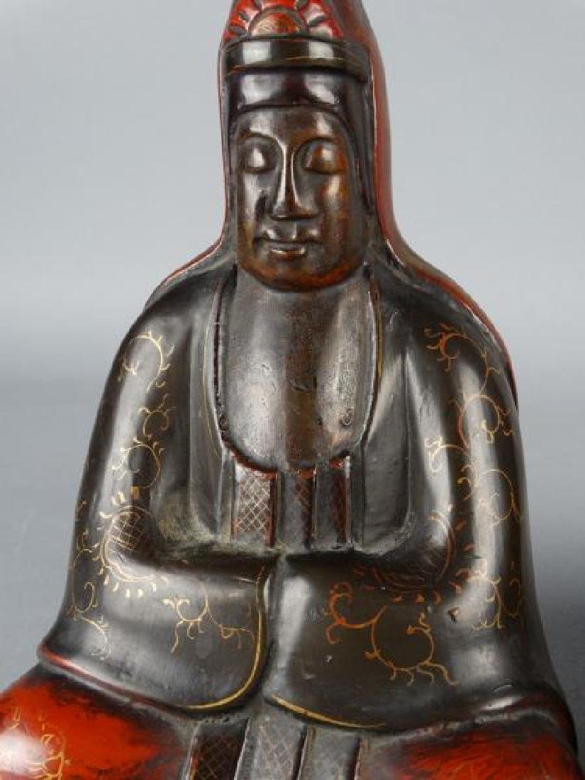 Burmese Lacquered Buddha Bookends - 3