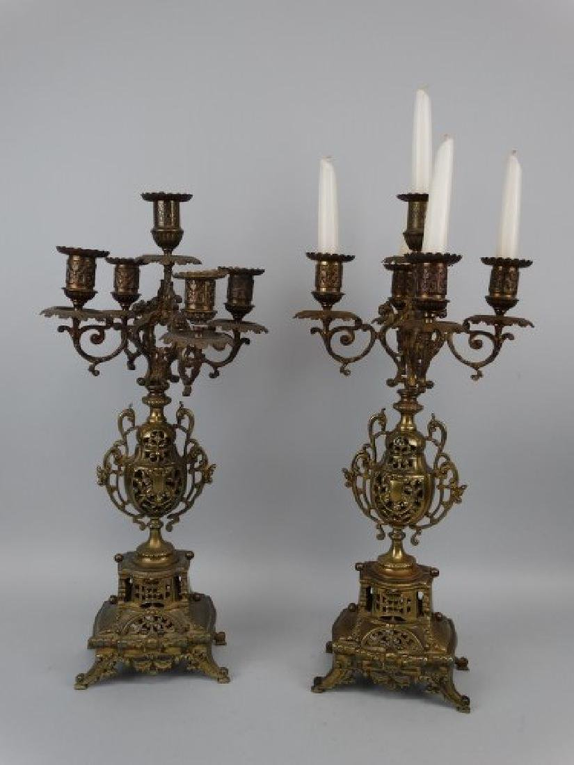 French 5 Light Candleabra Set