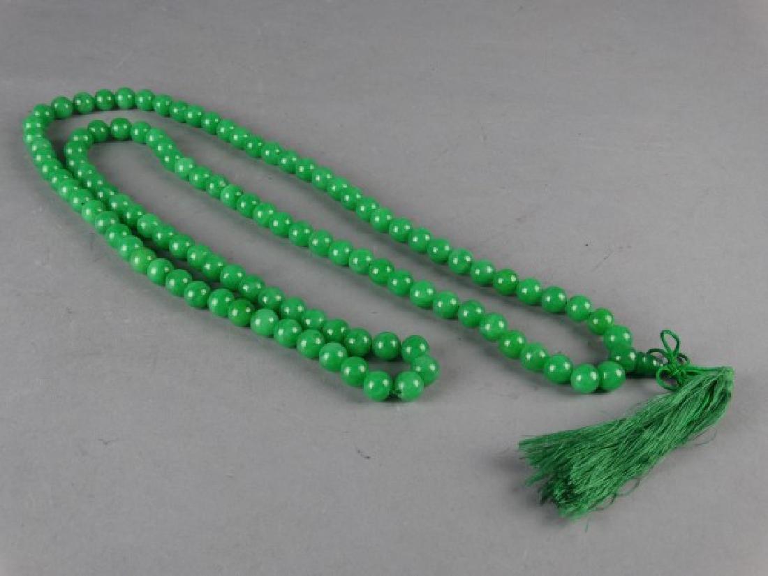 Set of Green Jade Prayer Beads