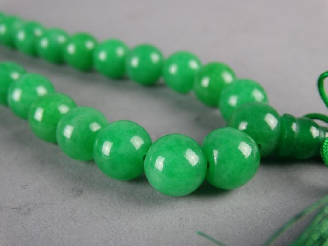 Set of Green Jade Prayer Beads - 2