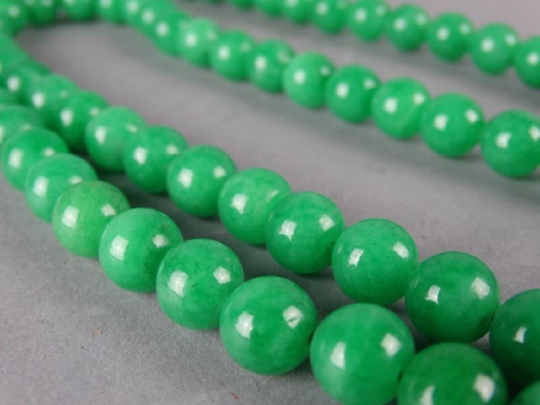 Set of Green Jade Prayer Beads - 3