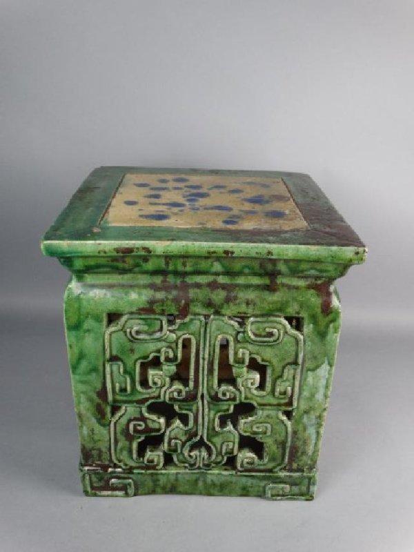 Chinese Sancai Glazed Stand