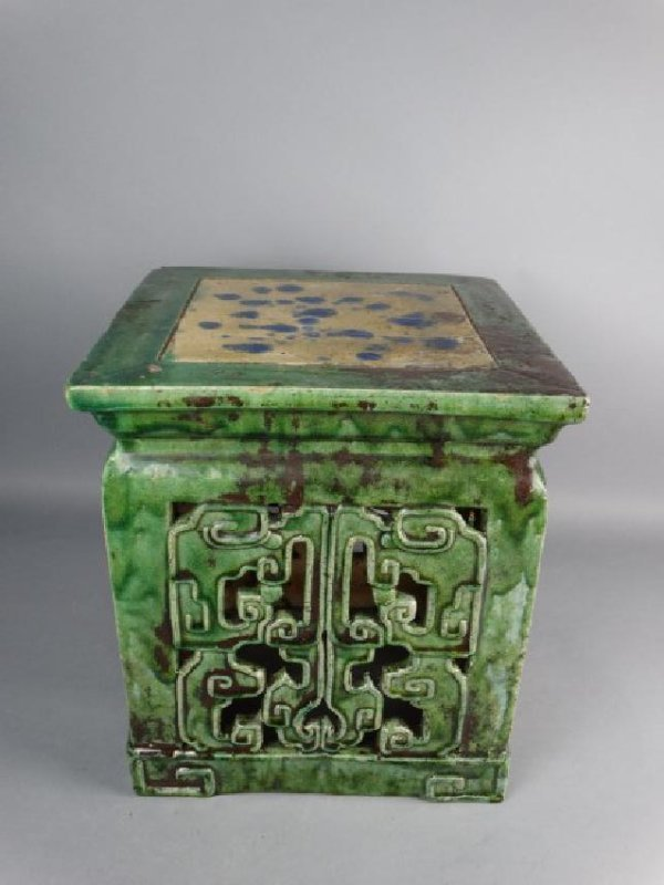 Chinese Sancai Glazed Stand