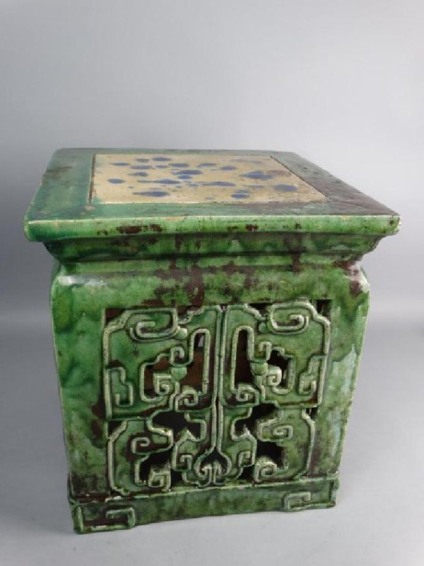 Chinese Sancai Glazed Stand - 4