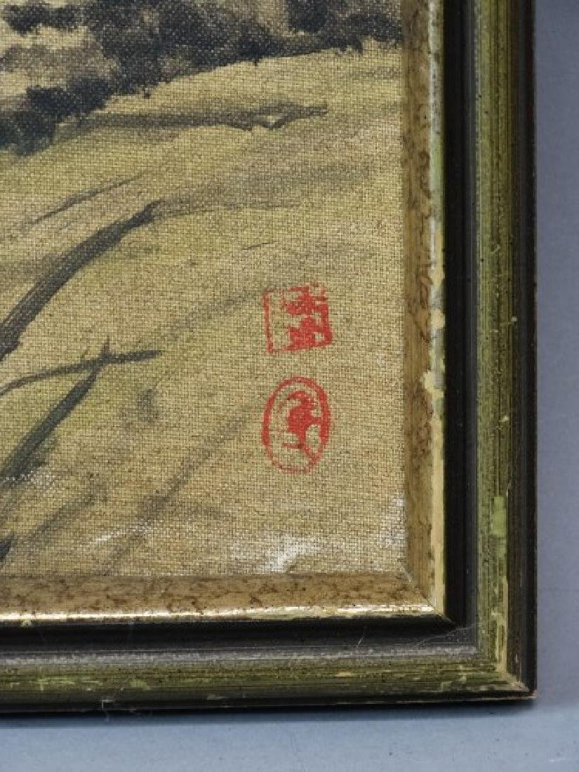 Framed Japanese Painting - 3