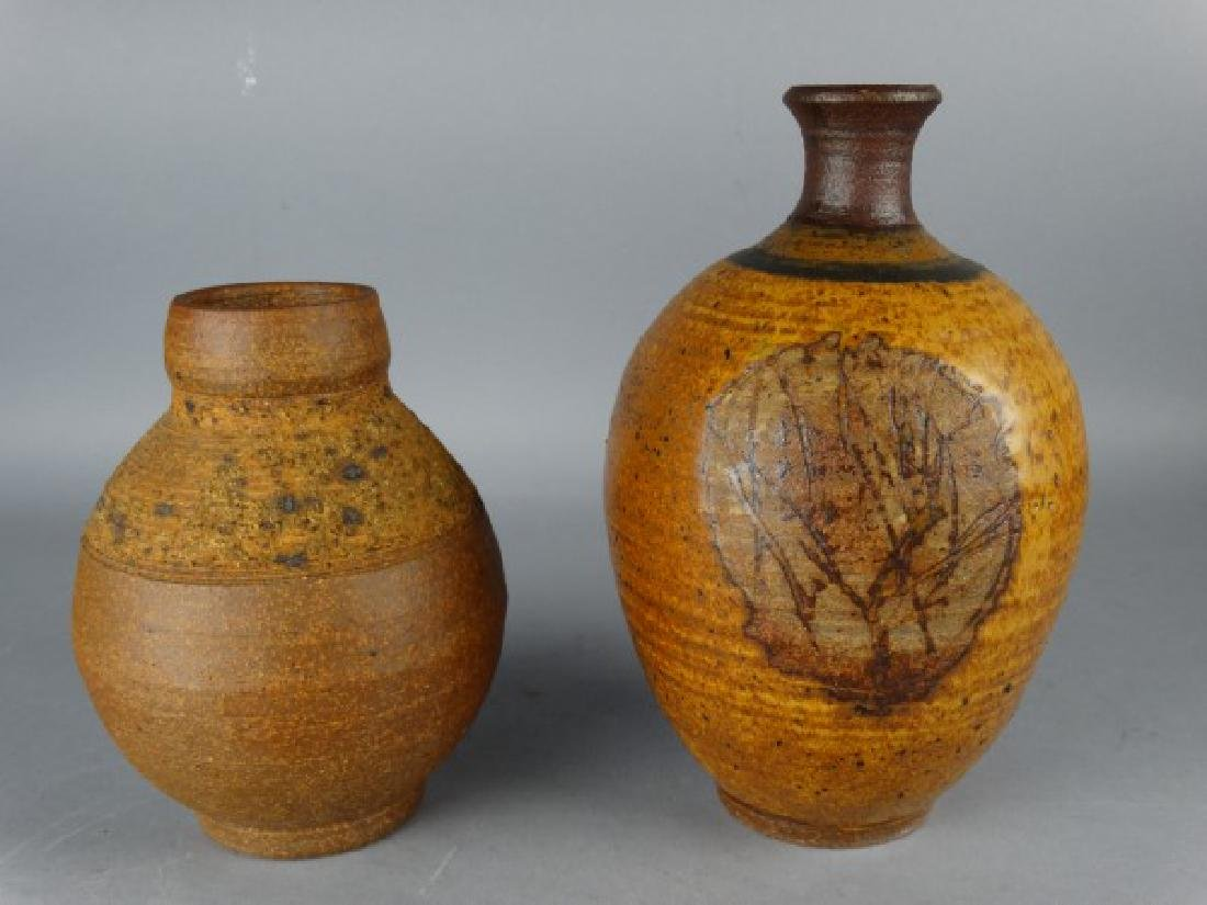 Lot of 2 Pottery Vases Signed Kay