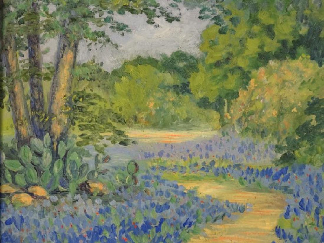NETSY CONNER - OIl on Board, Bluebonnets