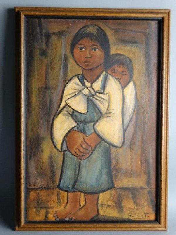 RODOLFO NIETO (Mexian, 1936-1988) Pastel