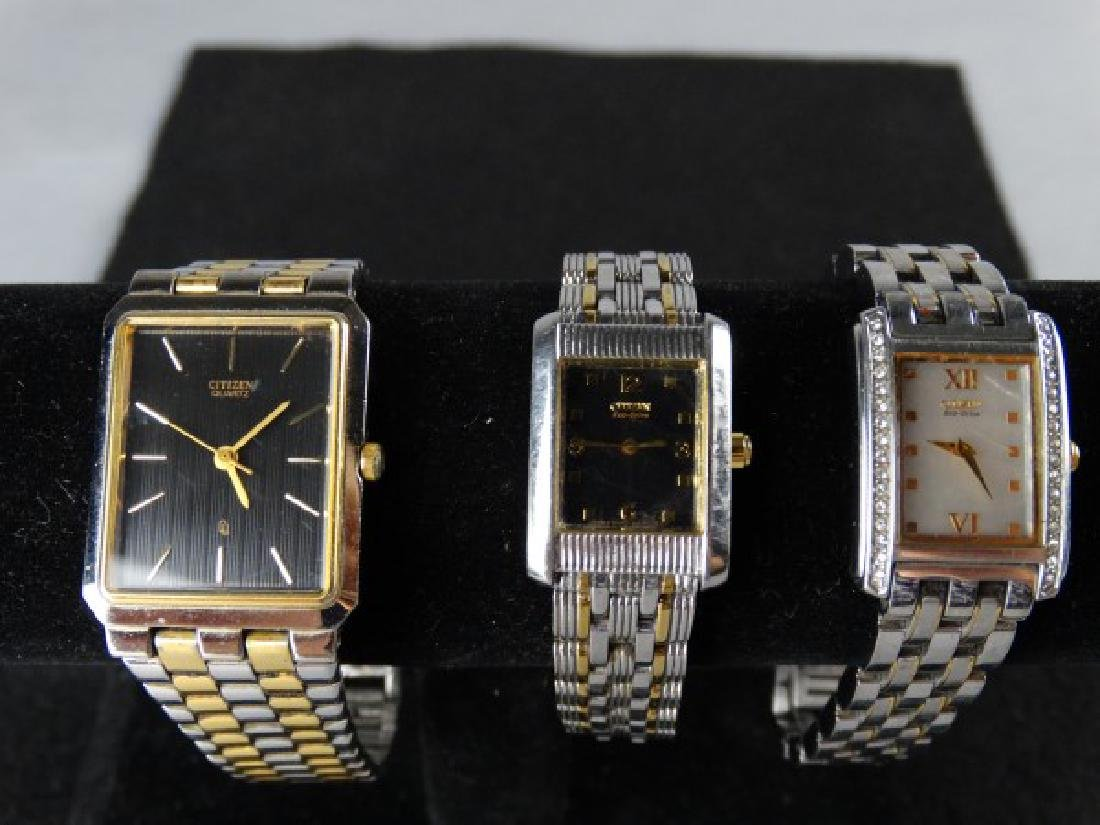 Lot of 3 Citizen Watches (1 Mens & 2 Ladies)