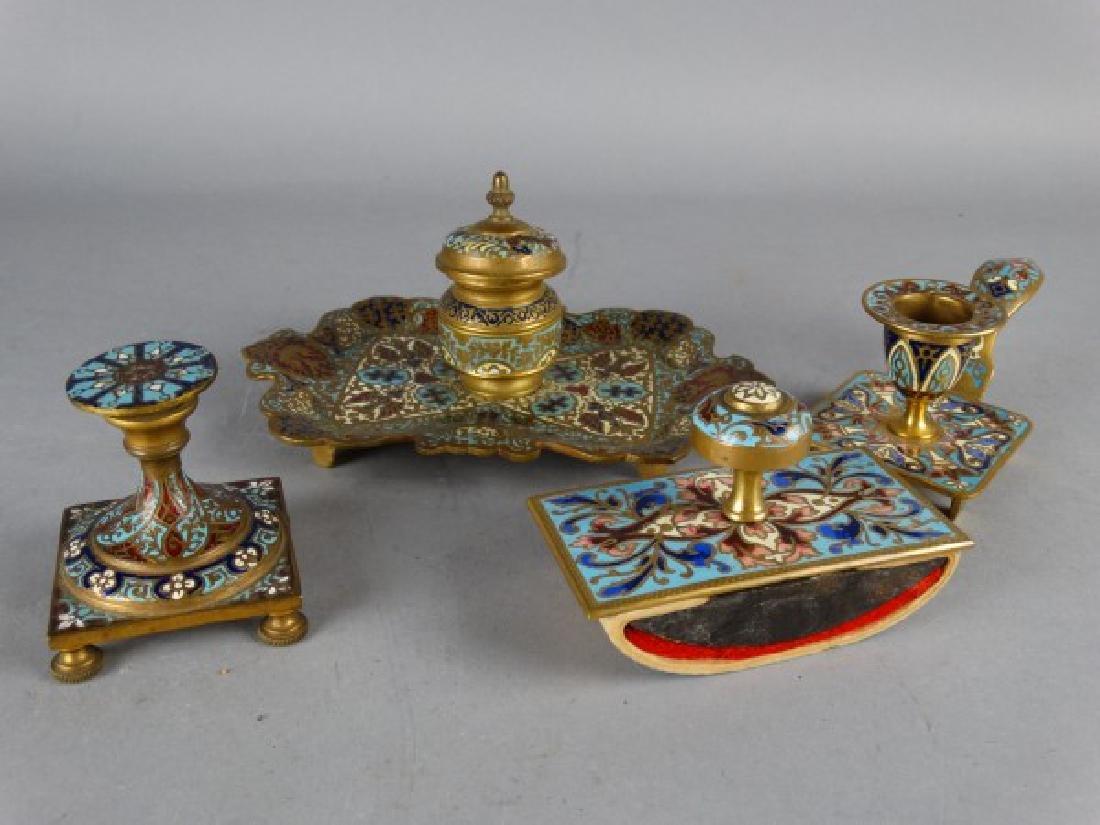 Grouping of 4 Gilt Bronze Desk Articles