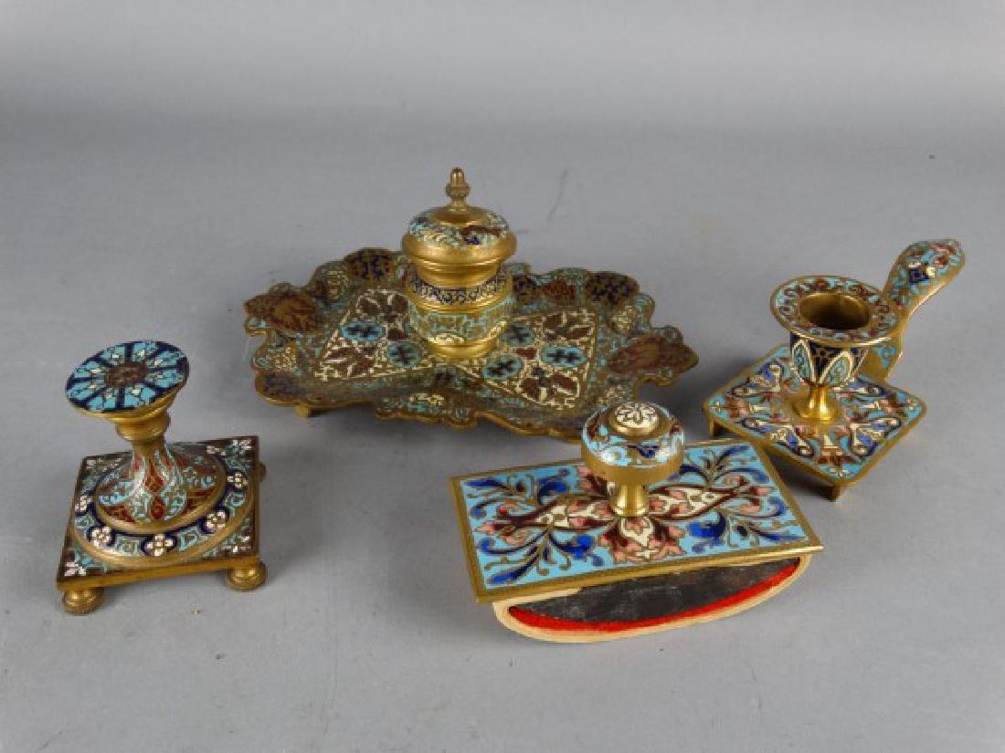 Grouping of 4 Gilt Bronze Desk Articles - 2