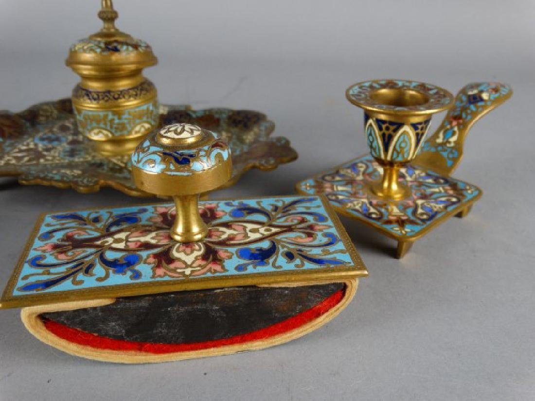 Grouping of 4 Gilt Bronze Desk Articles - 3