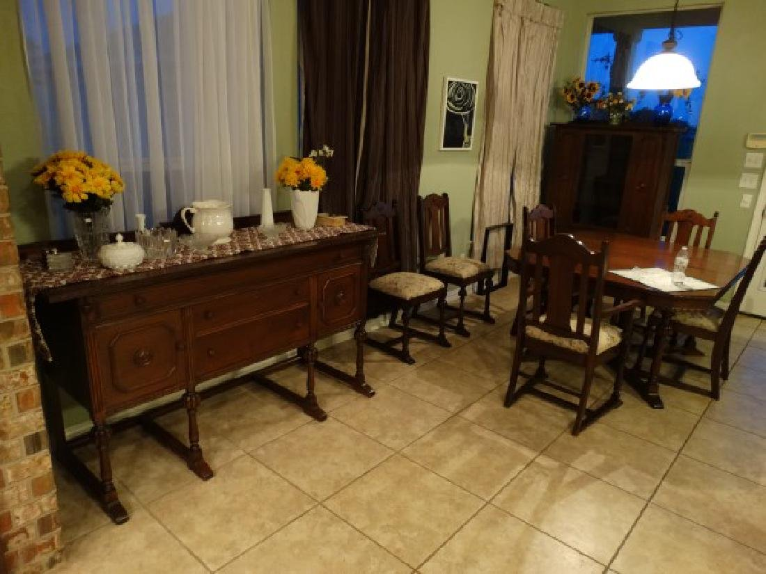 Antique Dining Room Set - Made in Texas