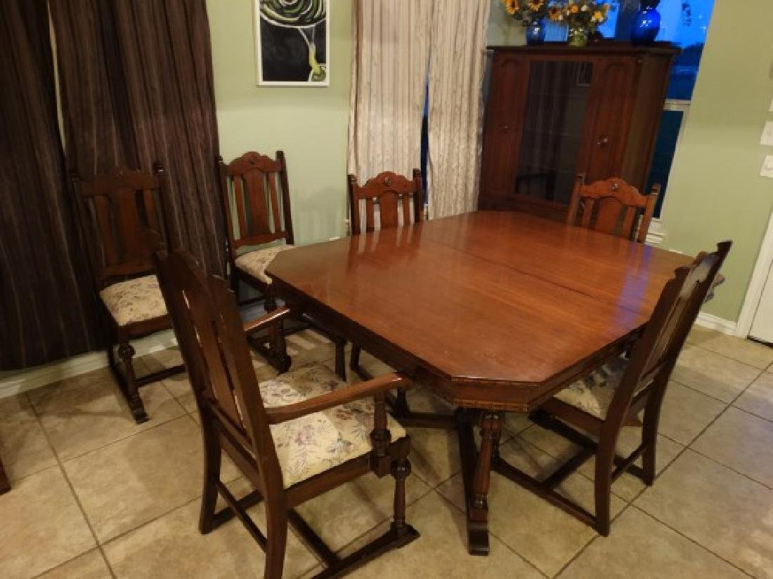 Antique Dining Room Set - Made in Texas - 2