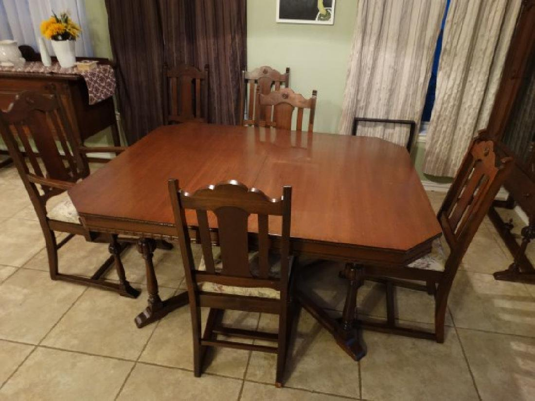 Antique Dining Room Set - Made in Texas - 4