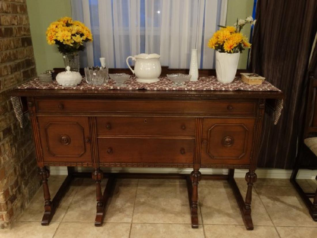 Antique Dining Room Set - Made in Texas - 5