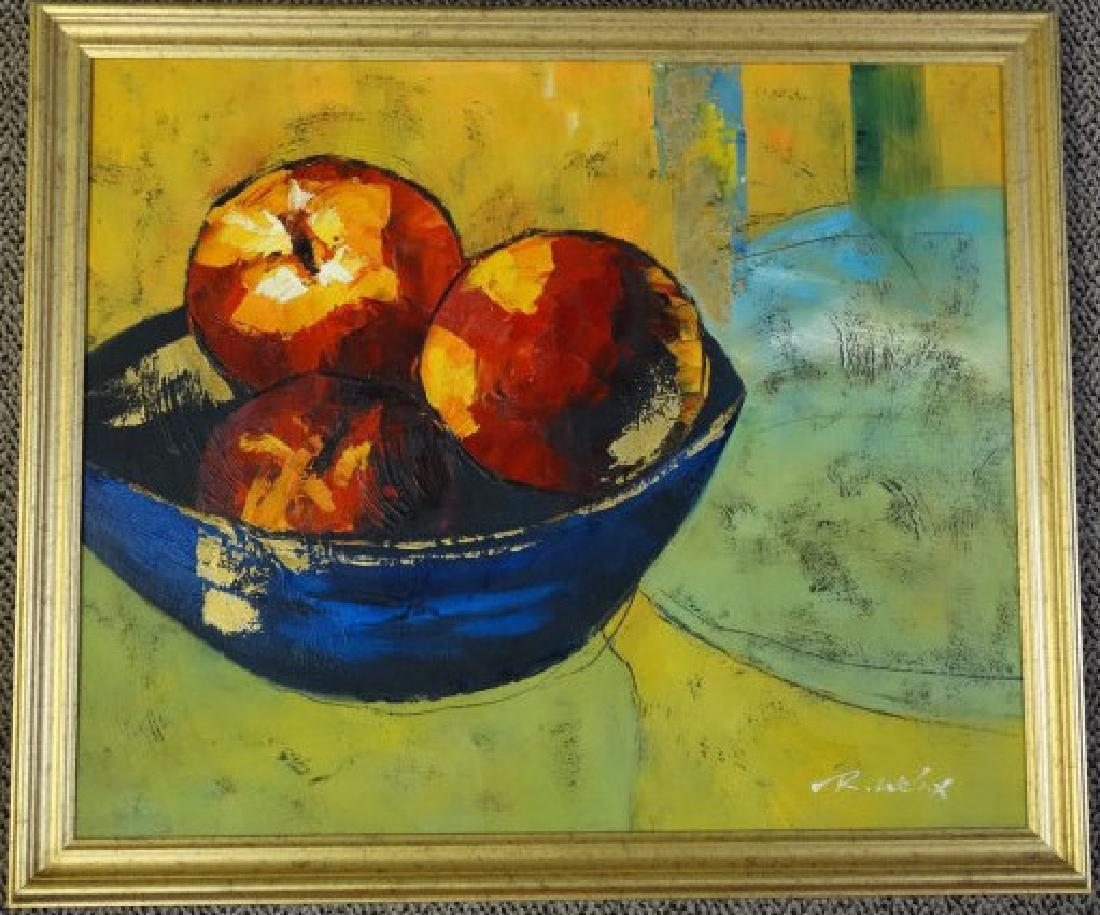 R. WELAX - Oil on Canvas 'Still Life'